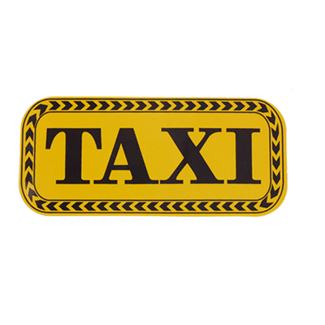 Black TAXI Letters Print Yellew Reflective Sticker Decal for Car