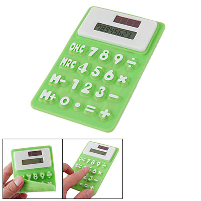 Green Soft Silicone Refrigerator Magnetic Calculator