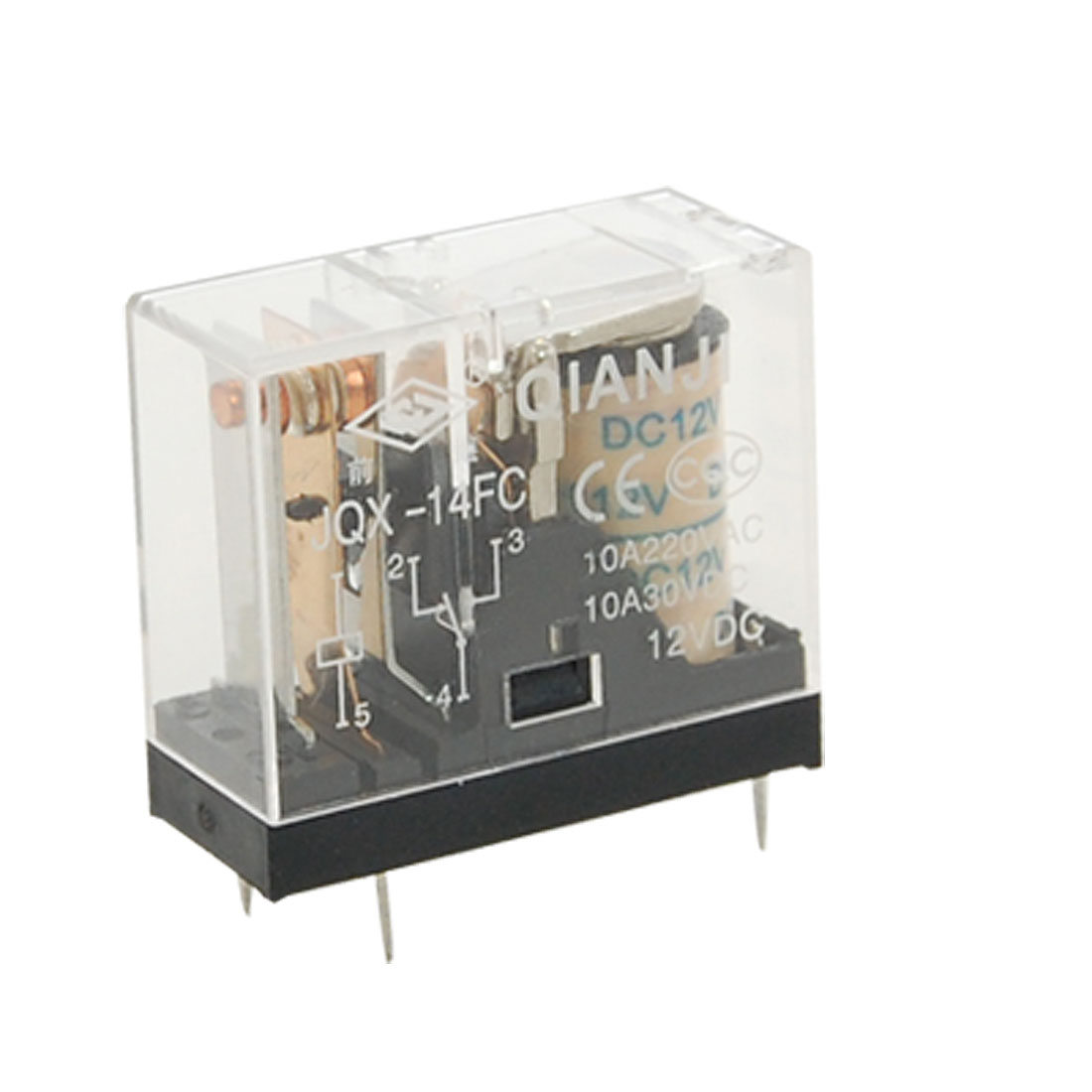 DC 12V Coil 10A General Purpose Power Relay 5 Pin SPDT G2R-1 JQX-14FC 1Z