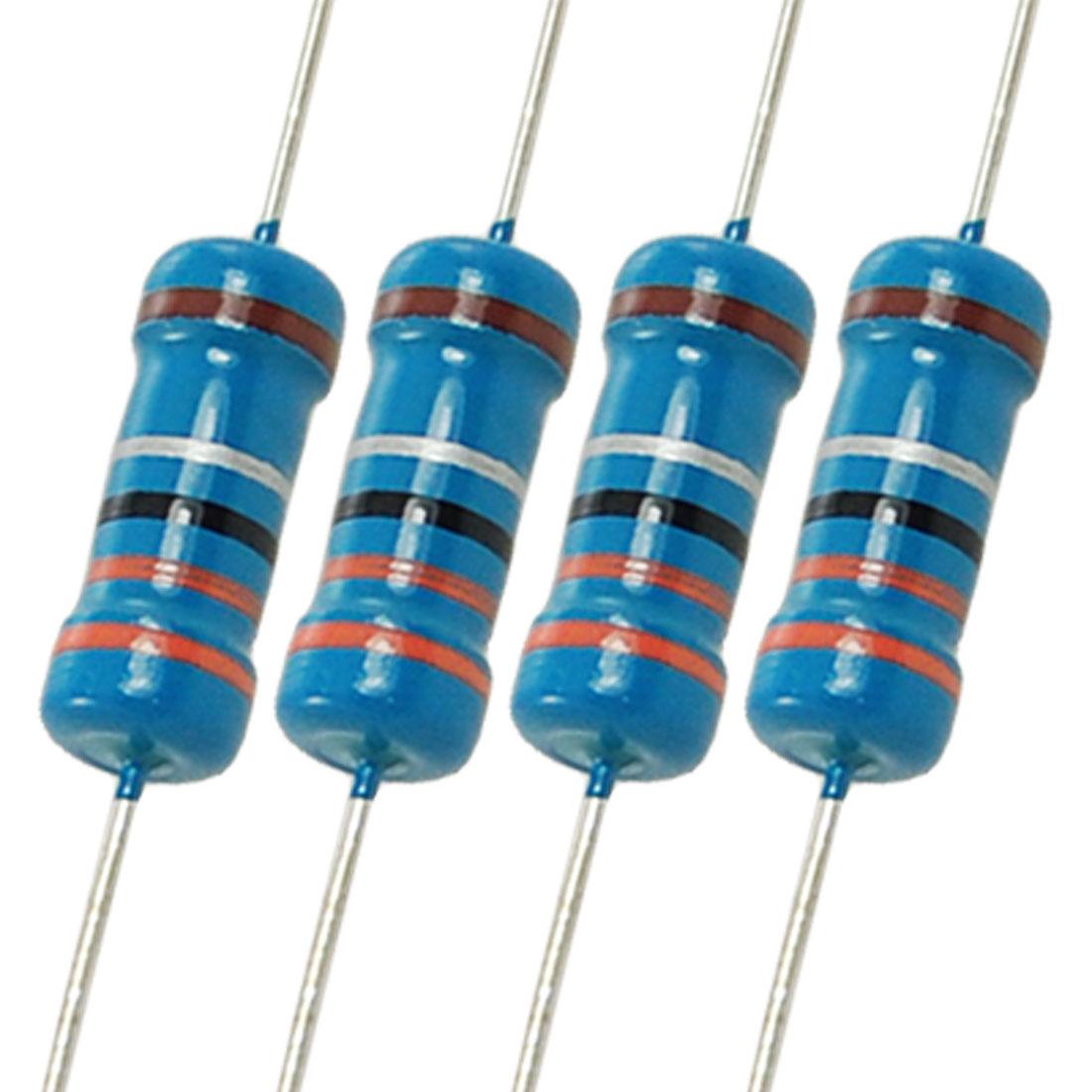 200 Pcs 1W 3.3 Ohm 1% Metal Film Resistors 1 Watt 3R3