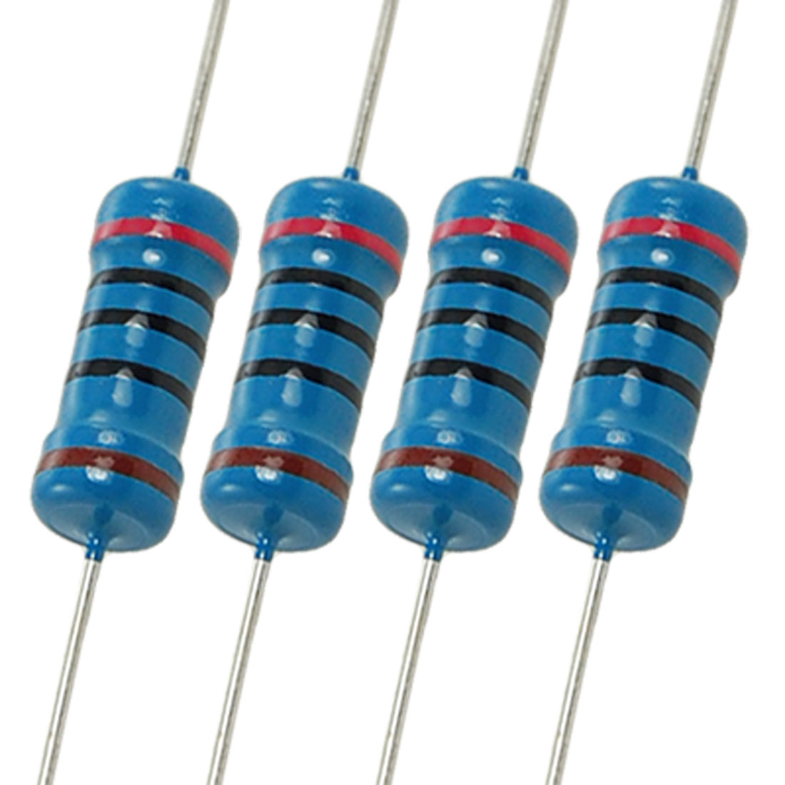 200pcs 1W 200 Ohm 1% Axial Lead Metal Film Resistors