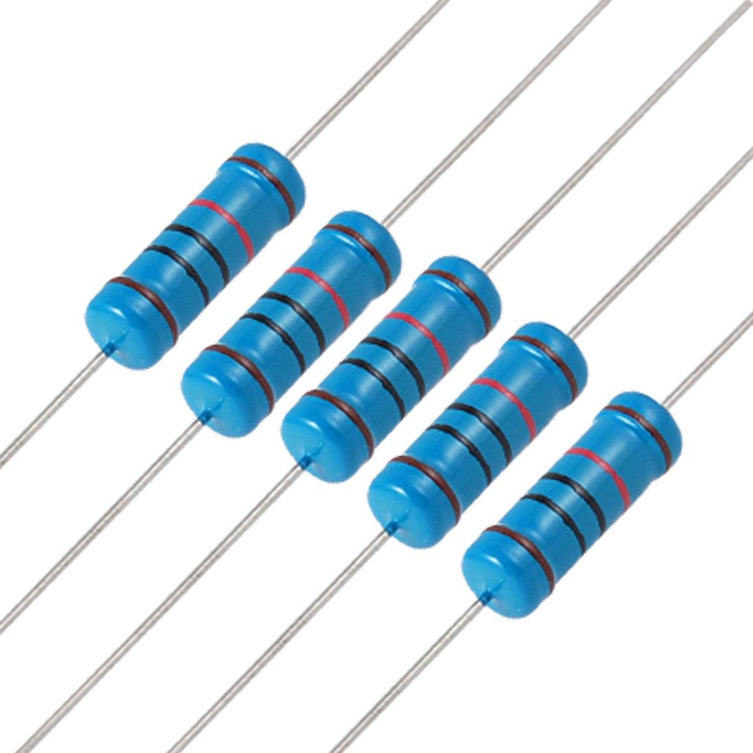 10K Ohm 3W 1% Axial Lead Metal Film Resistor 100 Pcs