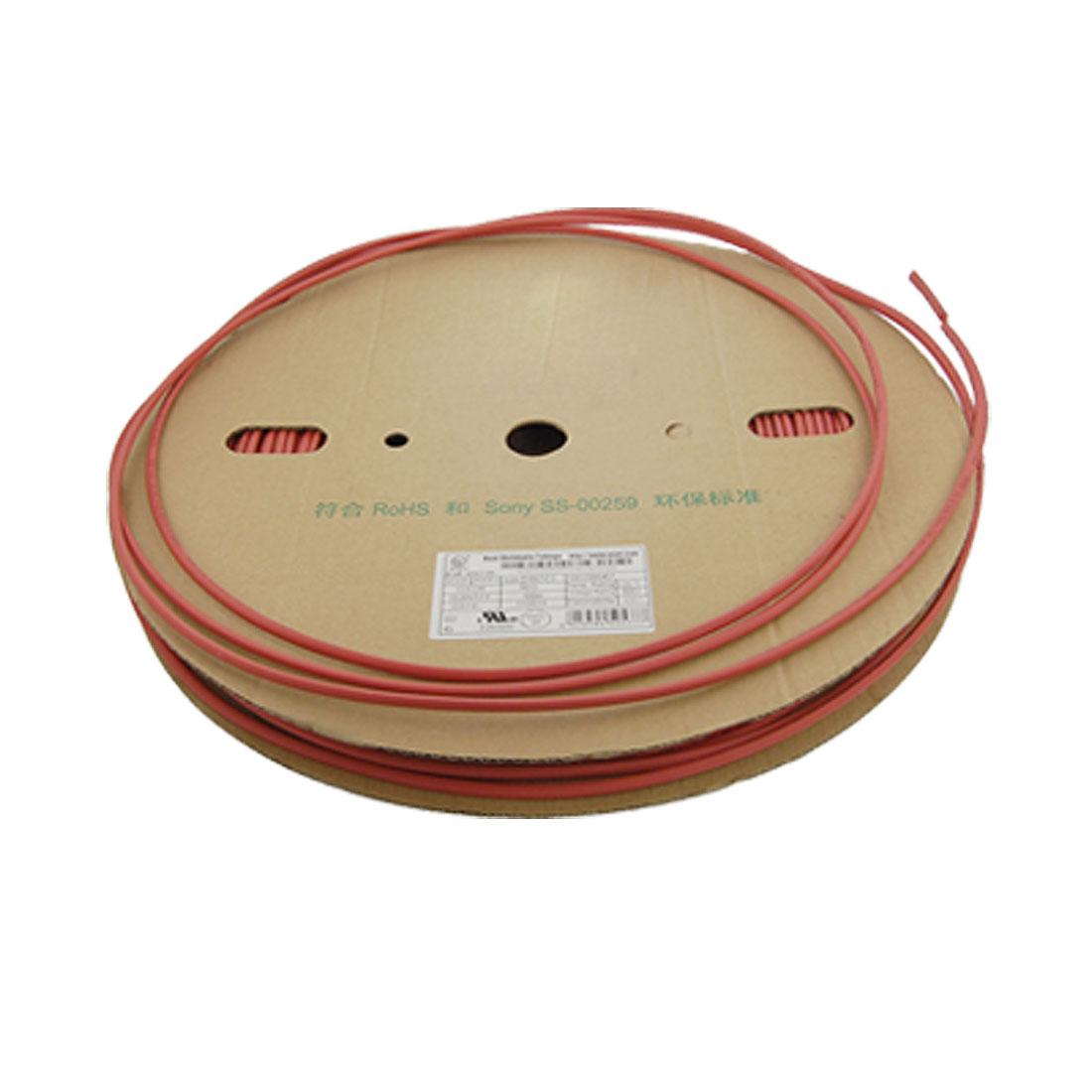 Red 4.5mm x 100 Meters Heat Shrinkable Tubing Tube Roll