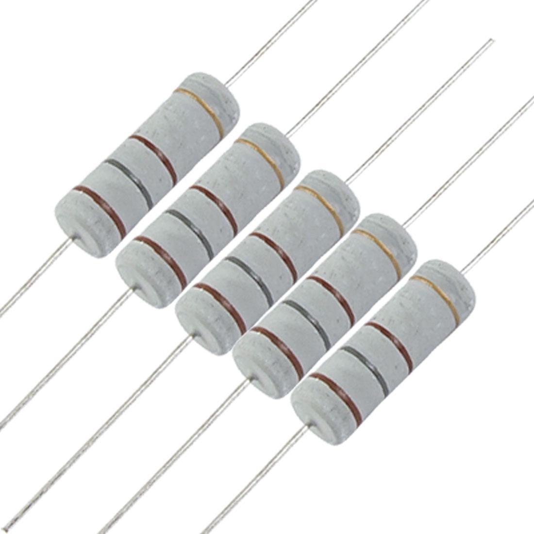 10 x 5W 700V 180 ohm 5 Watt Metal Oxide Film Resistors