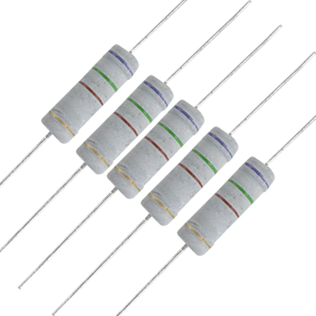 10 x 5W 700V 750 ohm Metal Oxide Film Resistors 5 Watt