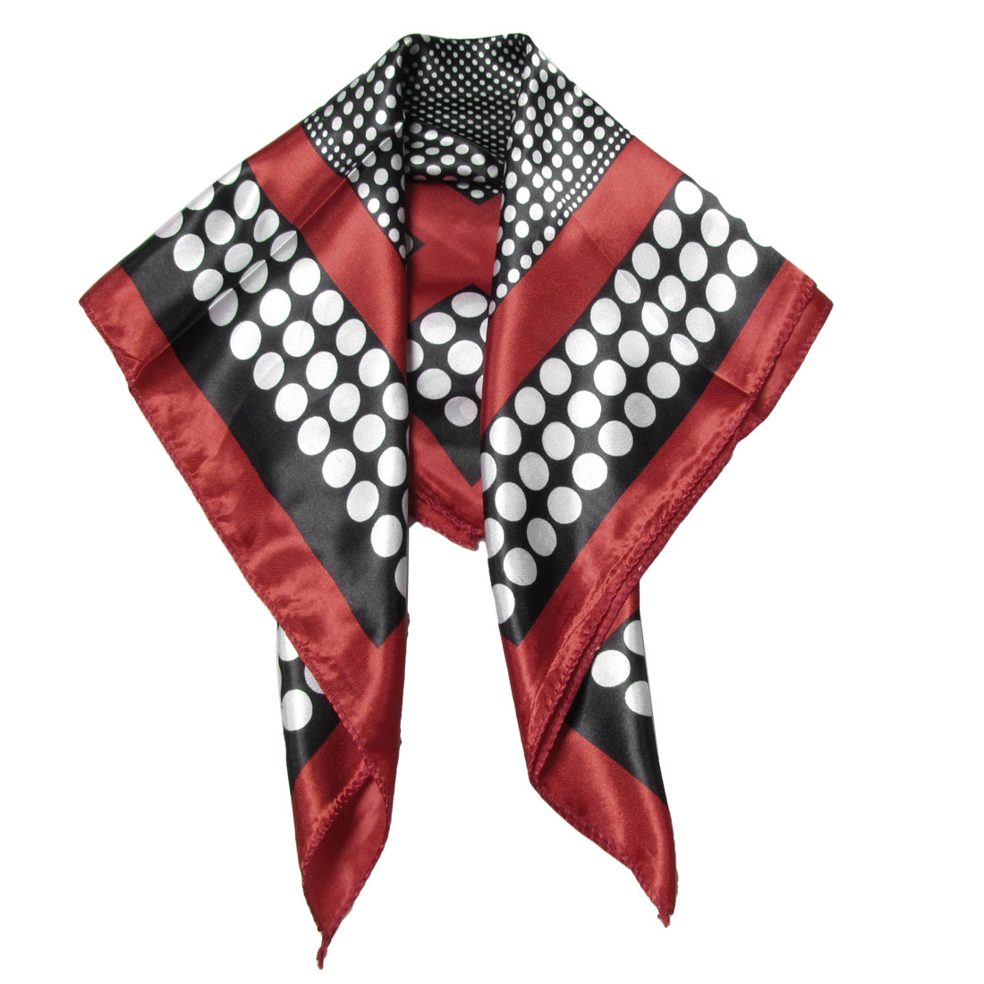 Scarves  Women White Polka Dots Red Neck Head Wrap Neckerchief Scarf Red Neck Scarves For Women