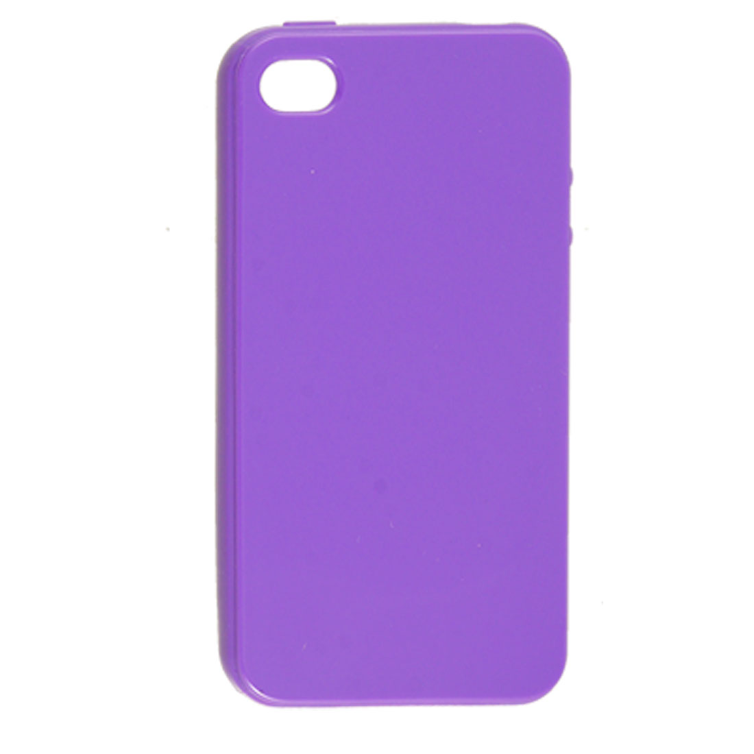 Anti Dust Purple Soft Plastic Case Cover for Apple iPhone 4 4G