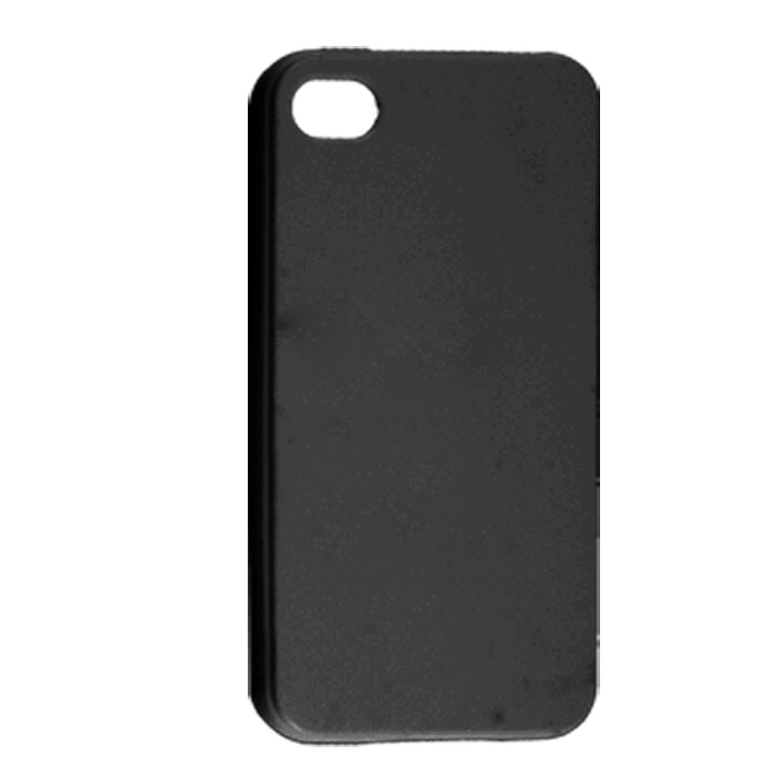 Anti Dust TPU Soft Plastic Black Cover Case for Apple iPhone 4 4G