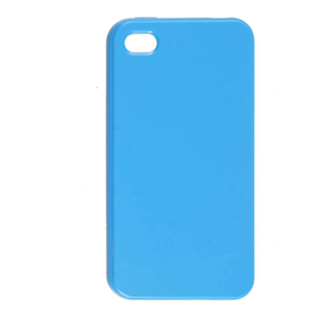 Anti Dust Sky Blue Soft Plastic Cover Case for Apple iPhone 4 4G