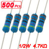 500 x 4.7K Ohm 1% 1/2W Through Hole Metal Film Resistors