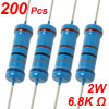 2W 6.8K Ohm 1% Through Hole Metal Film Resistors 200 Pcs