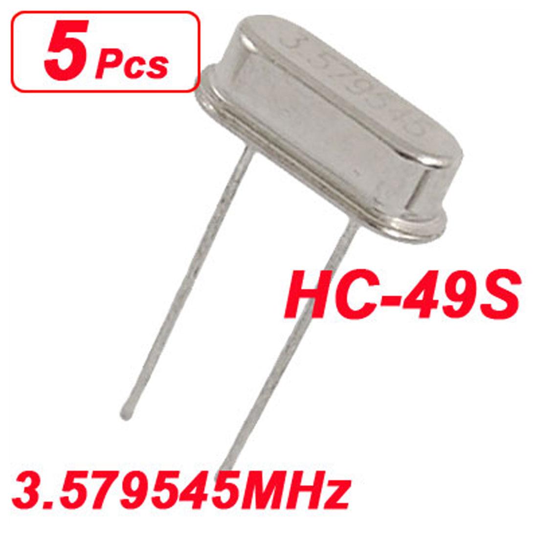 5 x 3.579545MHz 3.579545 MHz Crystal Oscillator HC-49S