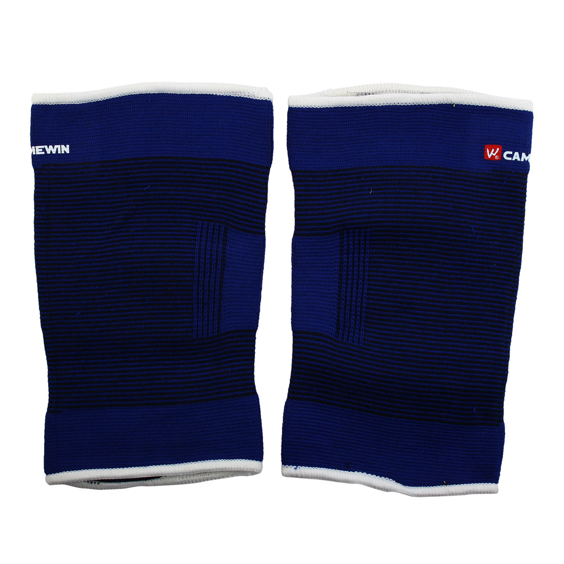 Adult Running Elastic Fabric Stretchy Sleeve Leg Thigh Support Brace Blue Pair
