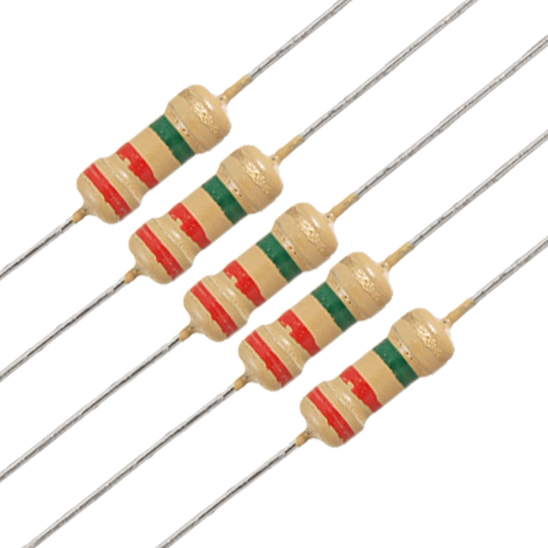 50 x 1/4W 250V 2.2 ohm 2M2 Axial Lead Carbon Film Resistors
