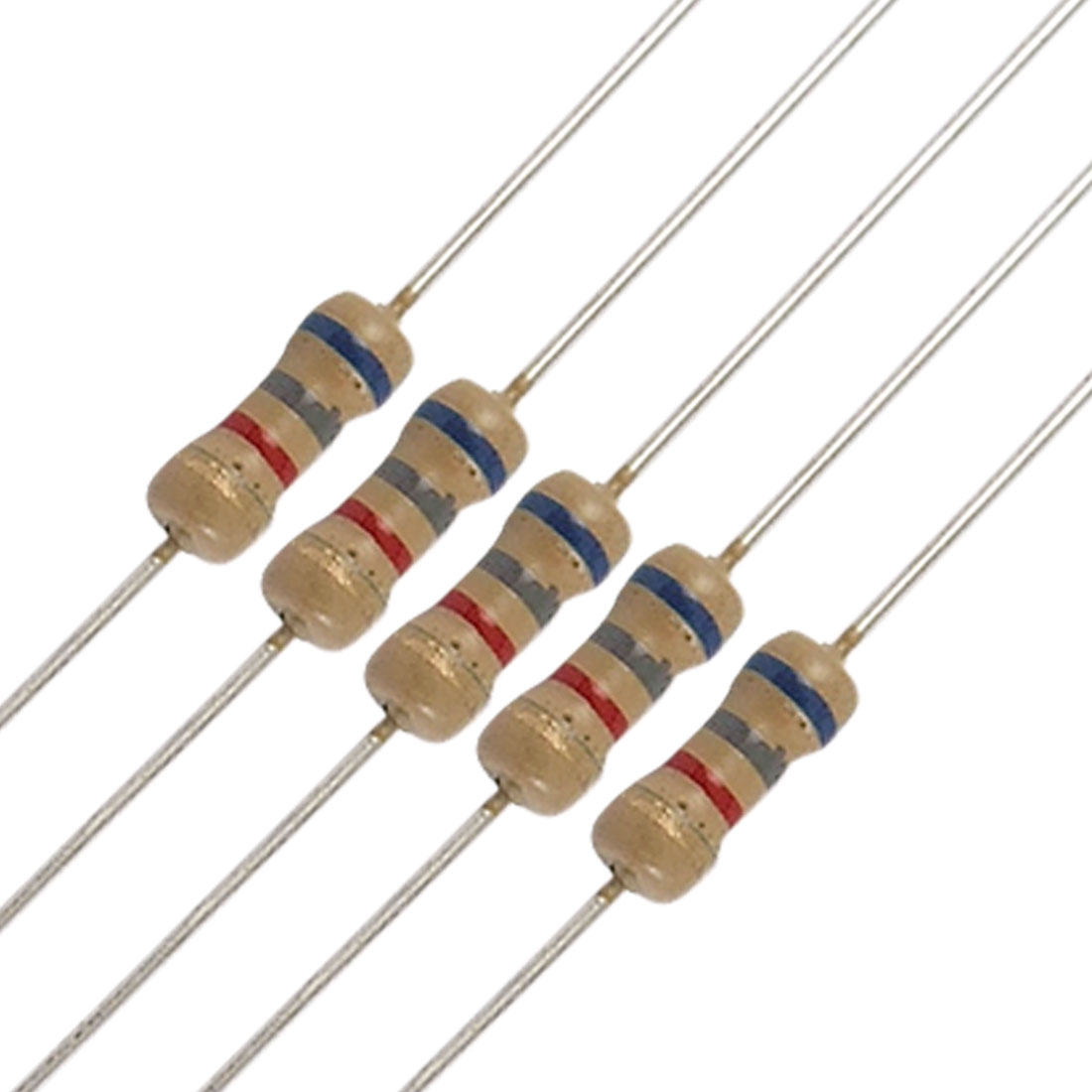 50 x 1/4W 250V 6.8K Ohm 6K8 Axial Carbon Film Resistors