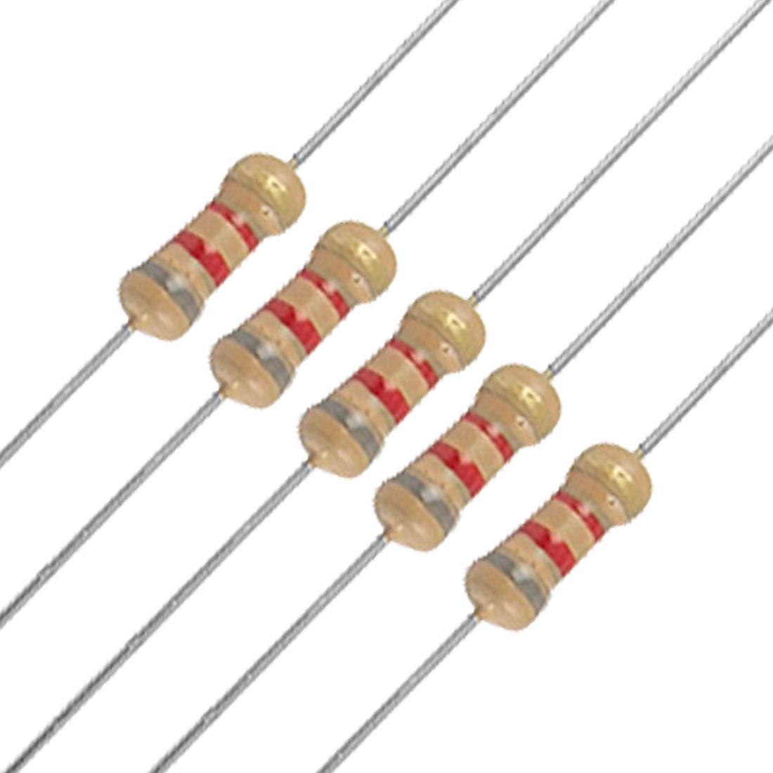 100 x 1/4W 250V 8.2K ohm 8K2 Axial Carbon Film Resistors