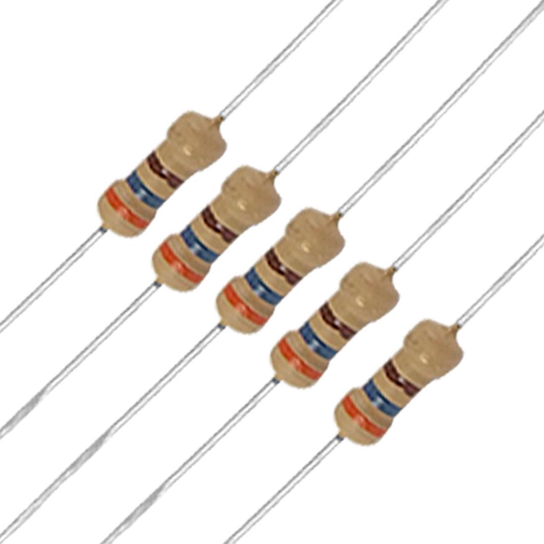 50 x 1/4W 250V 360 ohm Carbon Film Resistors Axial
