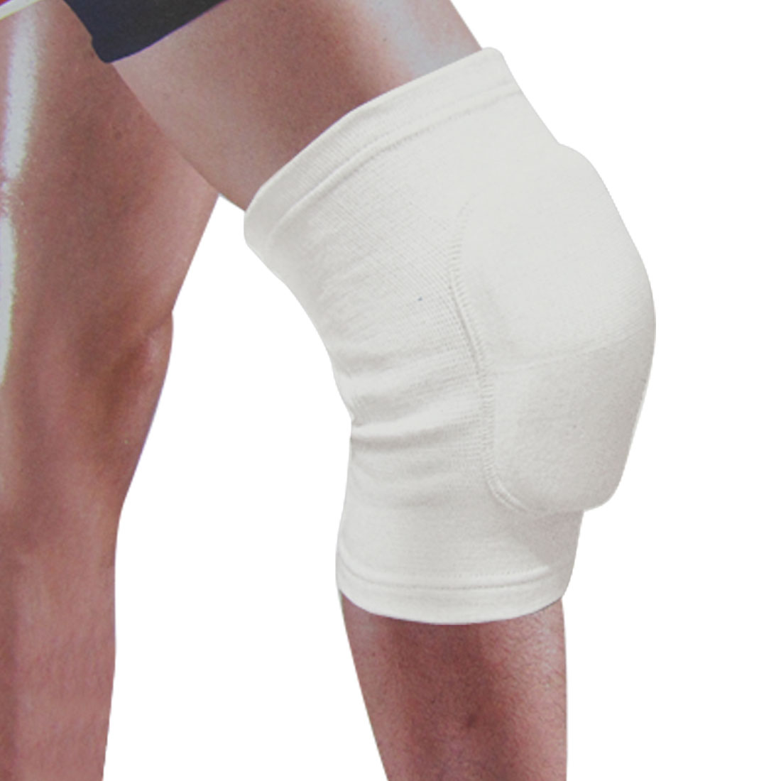 Adult Sports Cotton Stretchy Support Sports Knee Protector Brace White