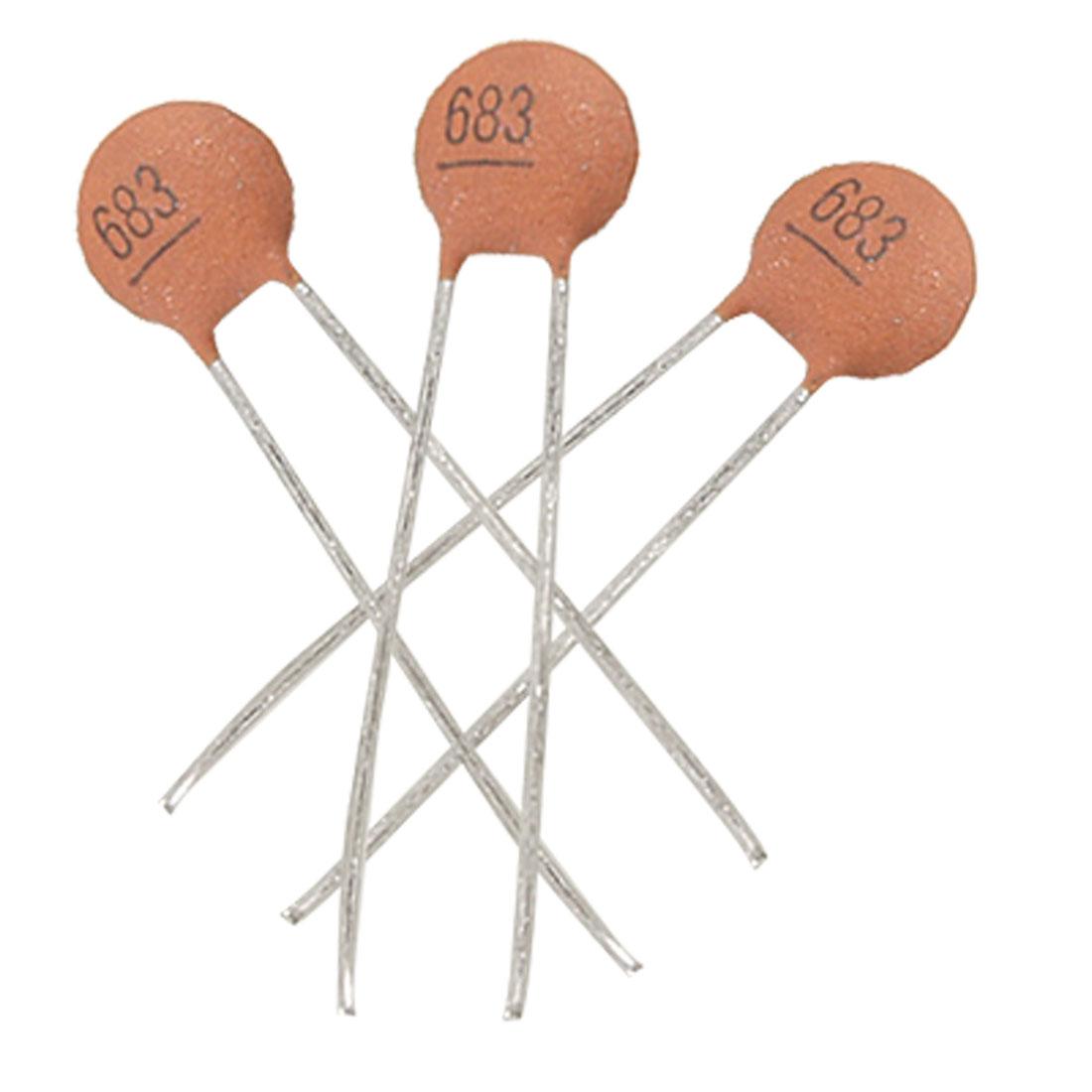 30 x 0.068uF 50V Low Voltage DIP Ceramic Disc Capacitors