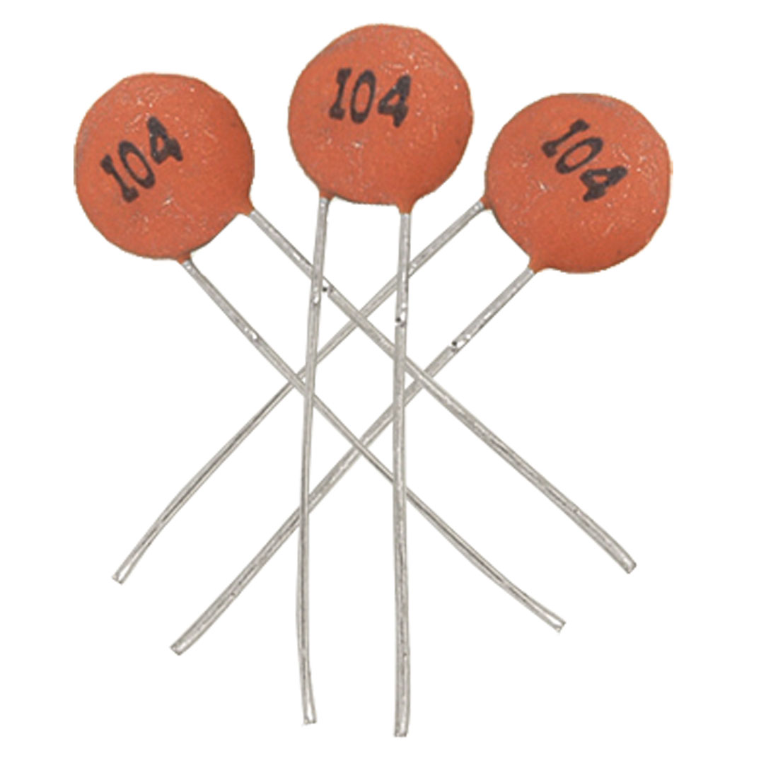 50 x 100000pF 100nF 50V Low Voltage DIP Ceramic Disc Capacitors