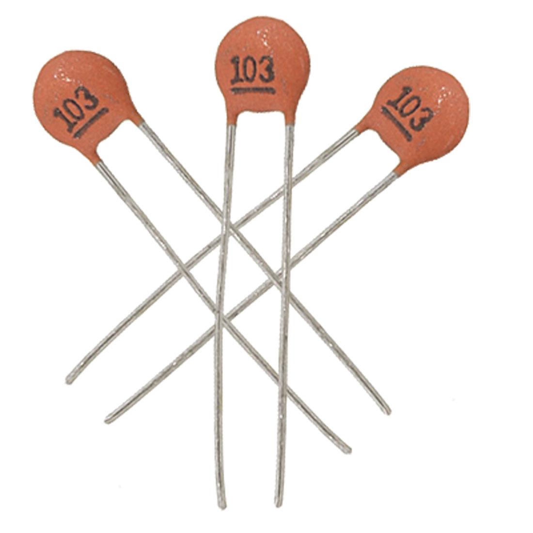 50 x 10000pF 5OV DIP Low Voltage Ceramic Disc Capacitors