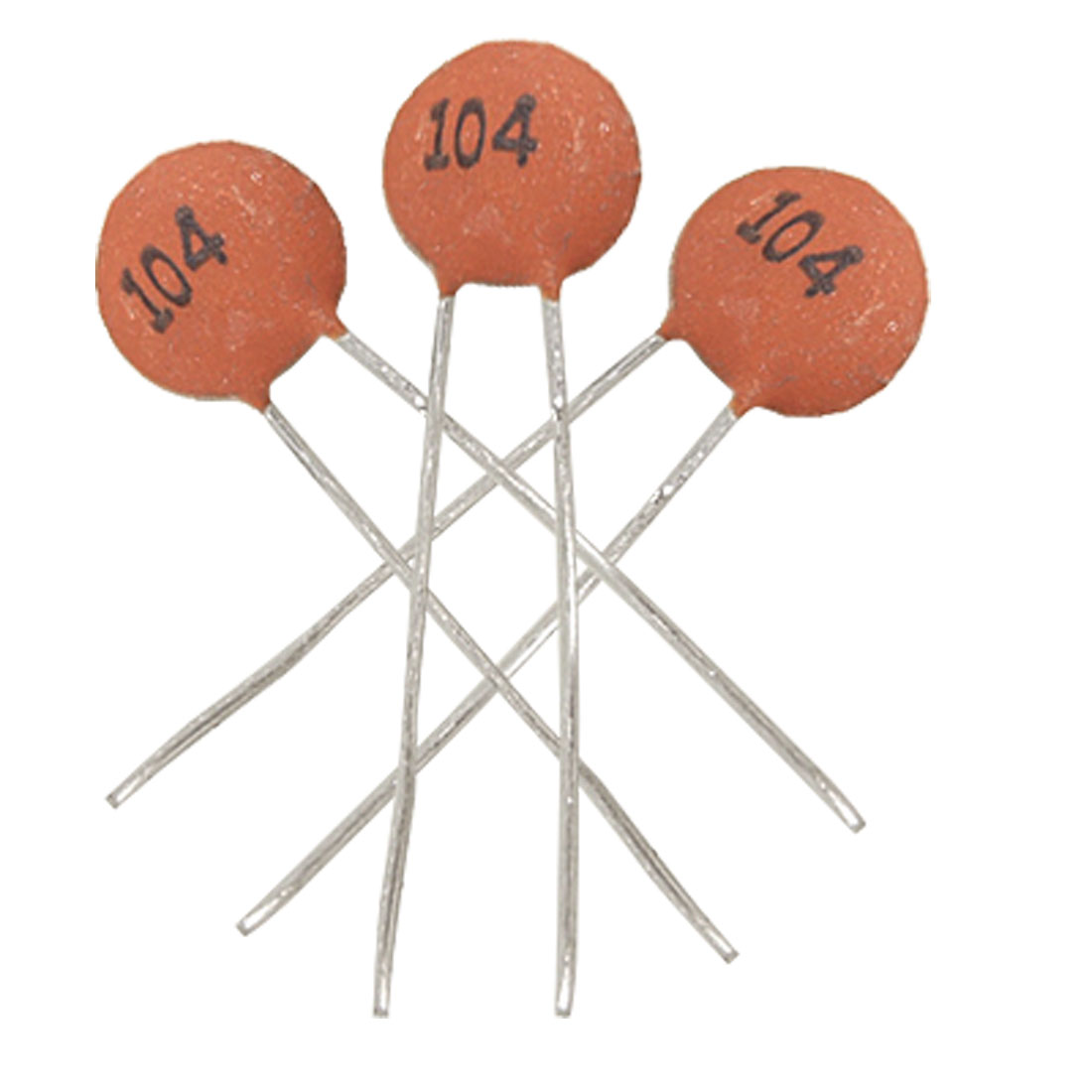 100 x 0.1uF DC 50V Low Voltage DIP Ceramic Disc Capacitors