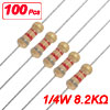 100 x 1/4W 250V 8.2K ohm 8K2 Carbon Film Resistor Through Hole