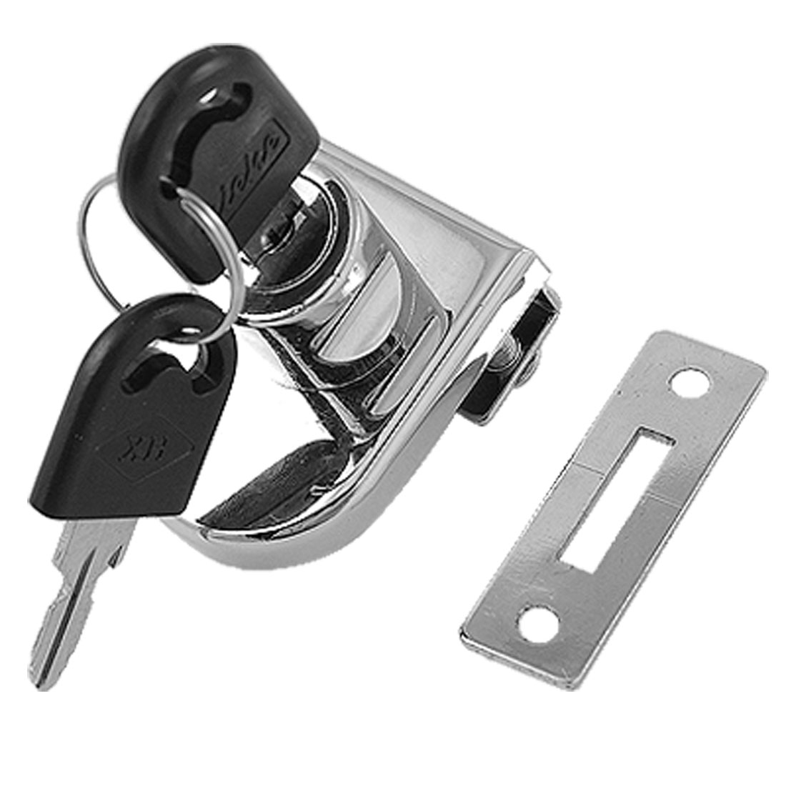 "Cabinet Showcase Single Glass Door Lock 2/5"" Silver Tone"