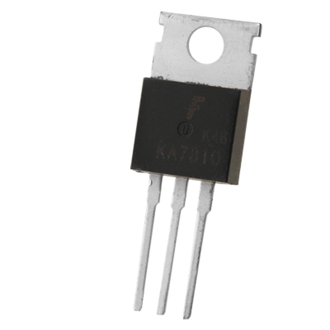 KA7810 3-Terminal 1A 10V Positive Voltage Regulator 2 Pcs