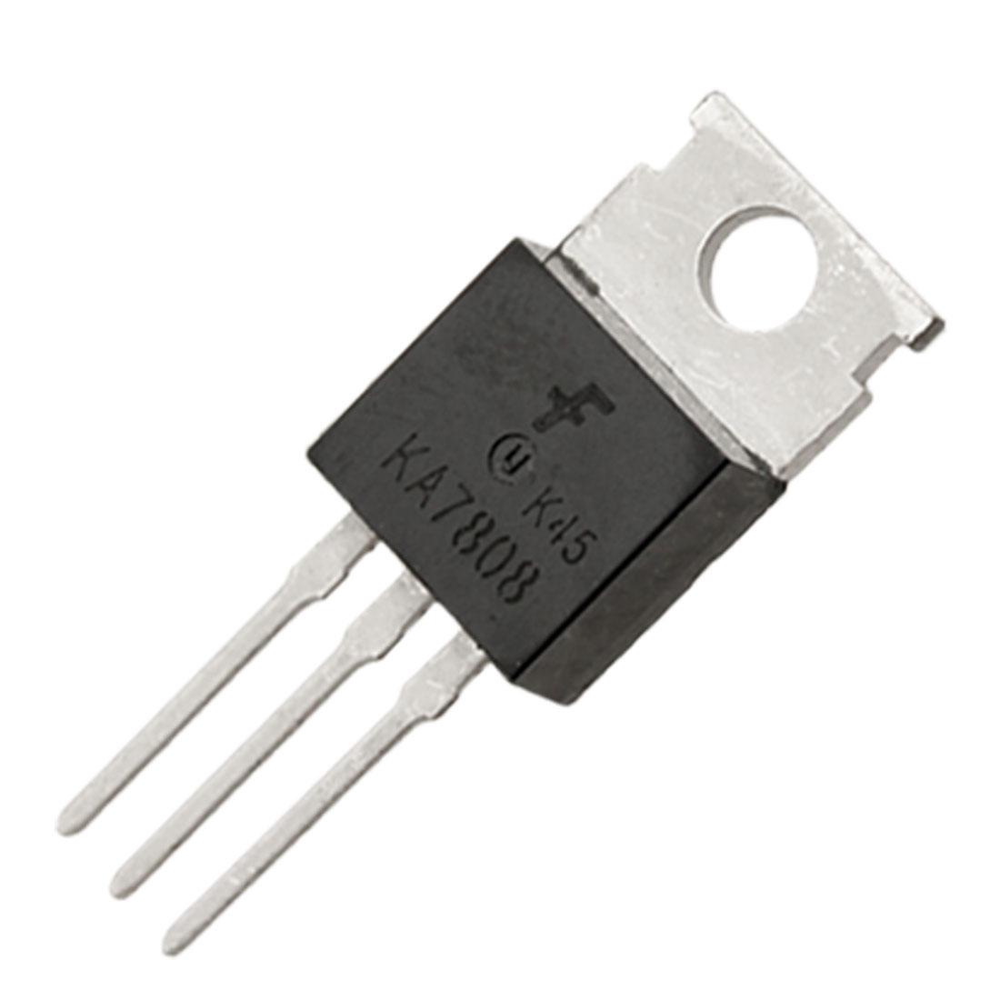 2 Pcs 3 Terminals 1A 8V KA7808 Positive Voltage Regulator