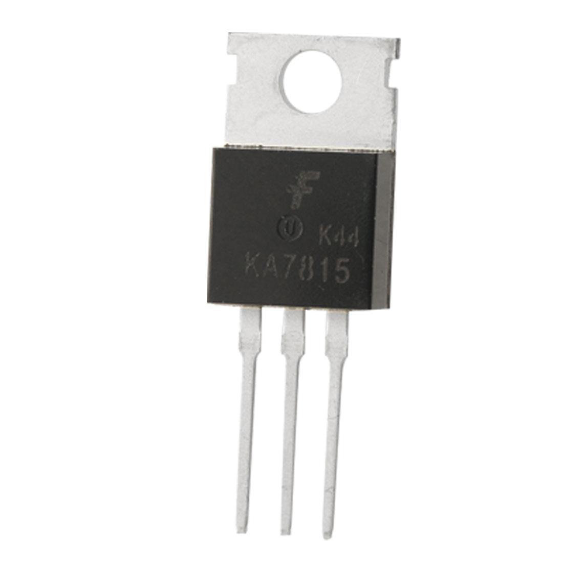 2 Pcs KA7815 1A 15V 3 Terminals Positive Voltage Regulators