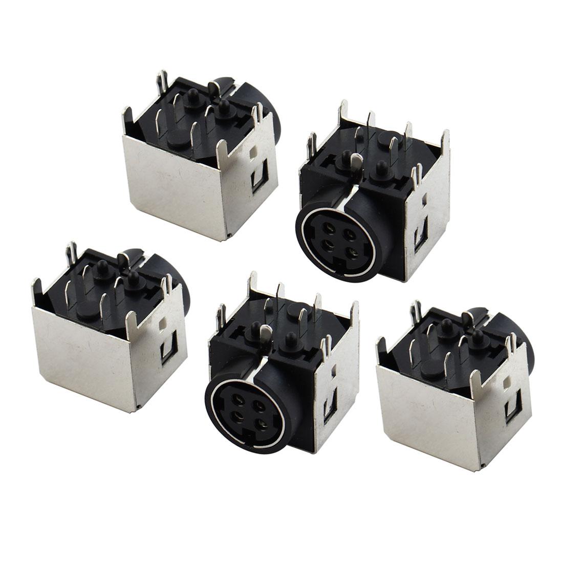 5 Pcs DC Female 4 Pin Mini DIN Power Jacks Sockets for Gateway M350 M675 M350WVN