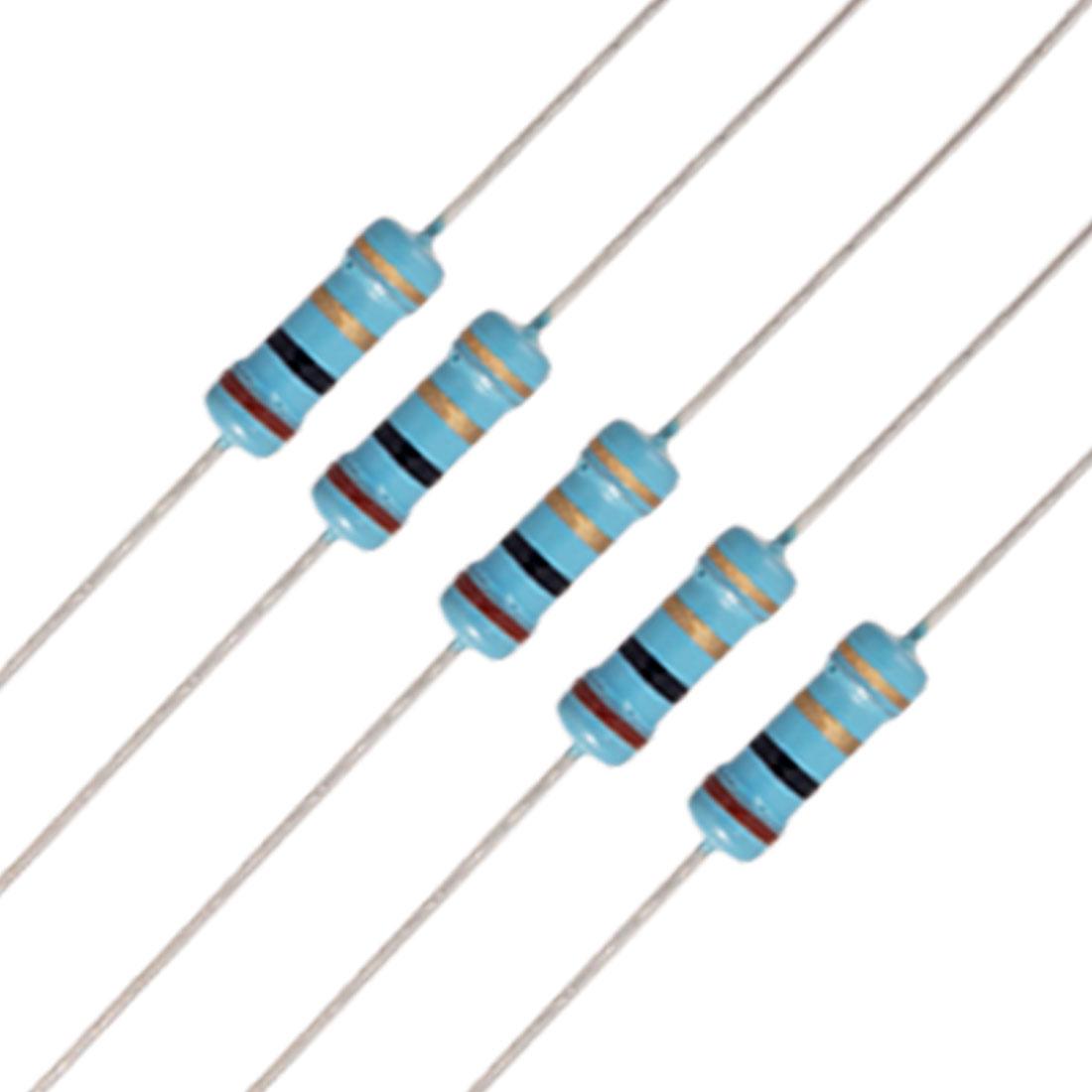 20 x 1/2W Watt 1 ohm 1R Metal Film Resistor 0.5W