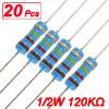 20 x 1/2W Watt 120K ohm 120KR Carbon Film Resistor 0.5W