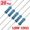 20 x 1/2W Watt 12K ohm 12KR Carbon Film Resistor 0.5W
