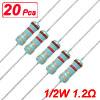 20 x 1/2W Watt 1.2 ohm 1R2 Carbon Film Resistor 0.5W
