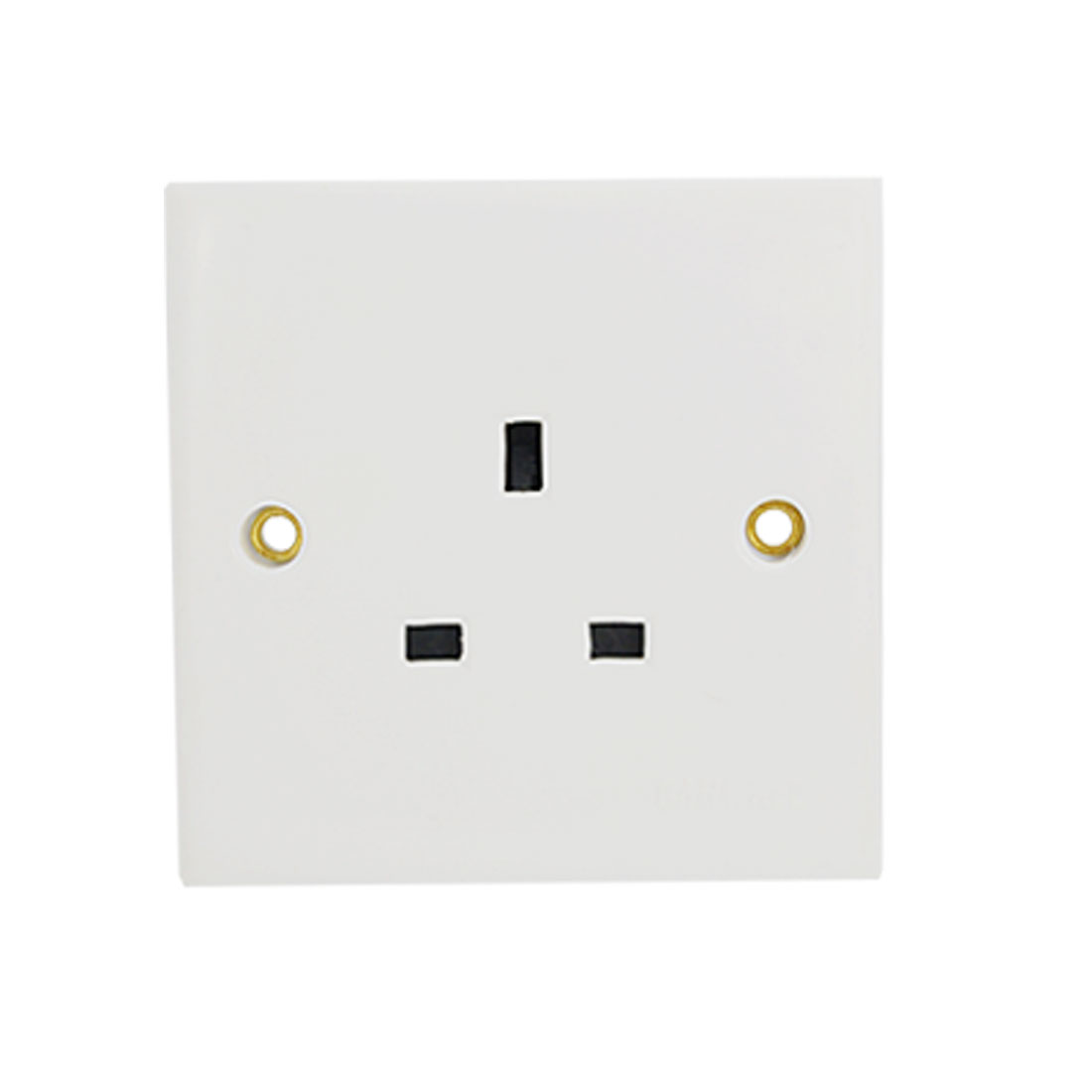 White Power Outlet Socket Wall Plate Panel for 3 Pin UK Plug