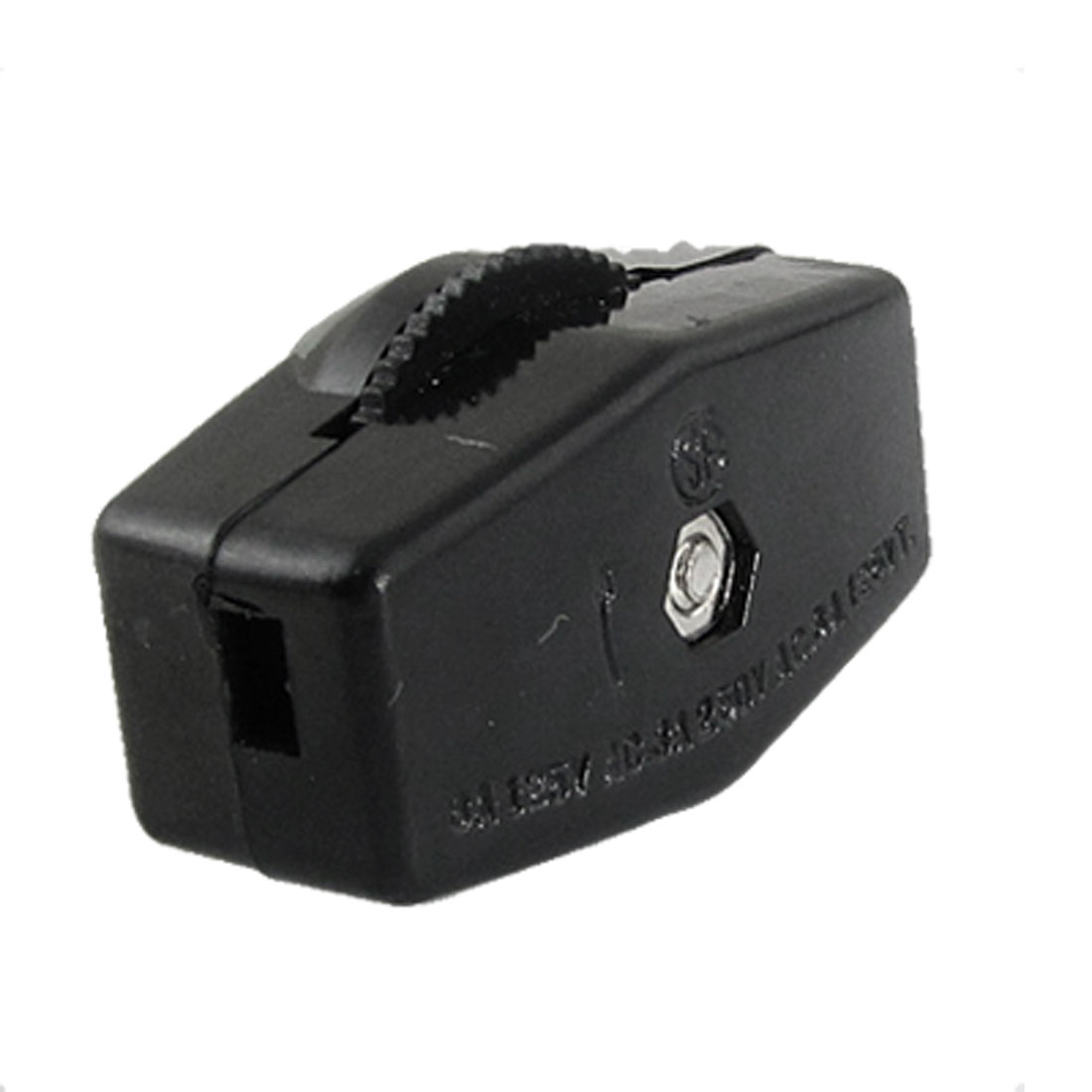 Black Compact Thumbwheel Actuator On/Off Lamp Light Inline Switch