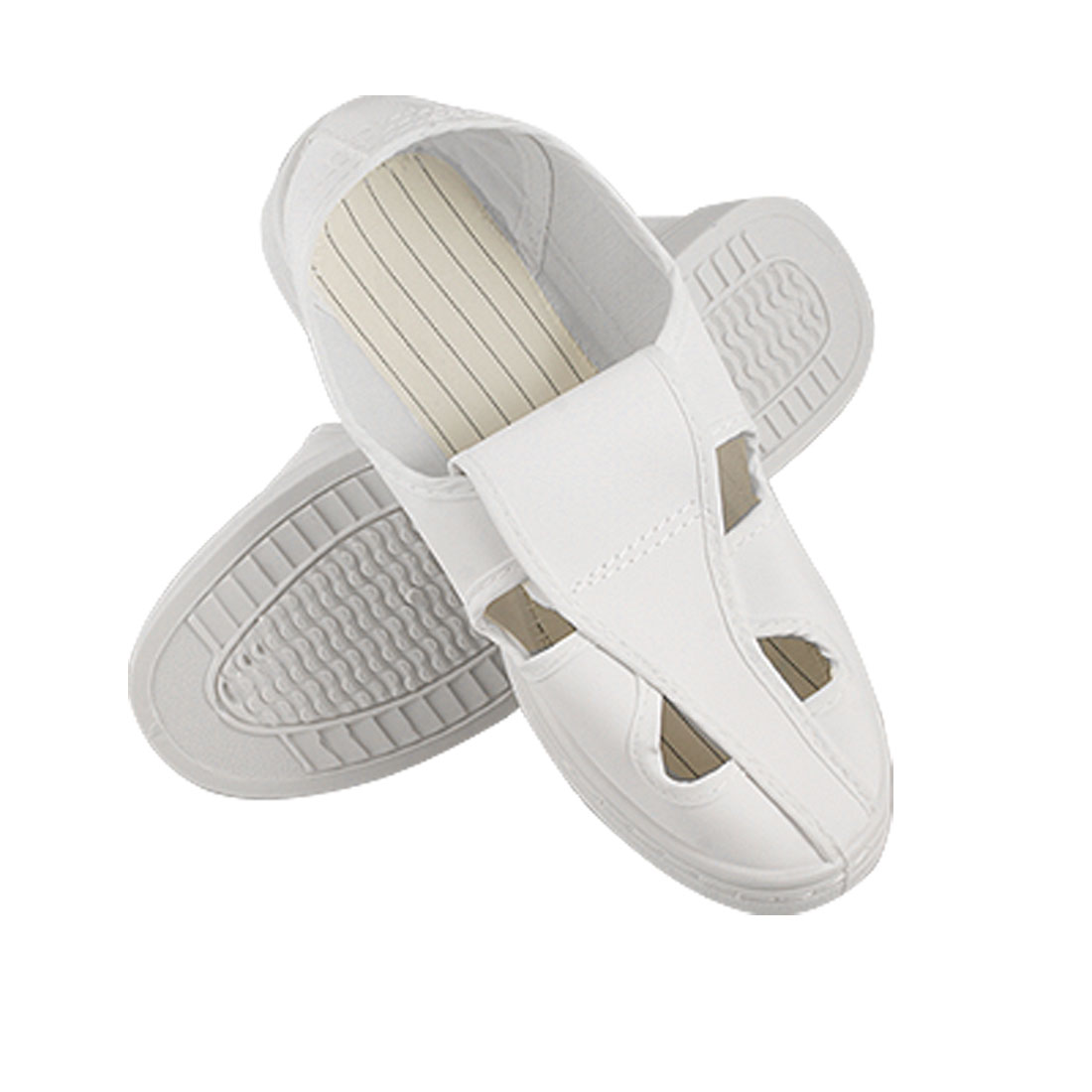 Men White Nonslip Outsole ESD PVC Butterfly Clean Room Shoes US 8.5