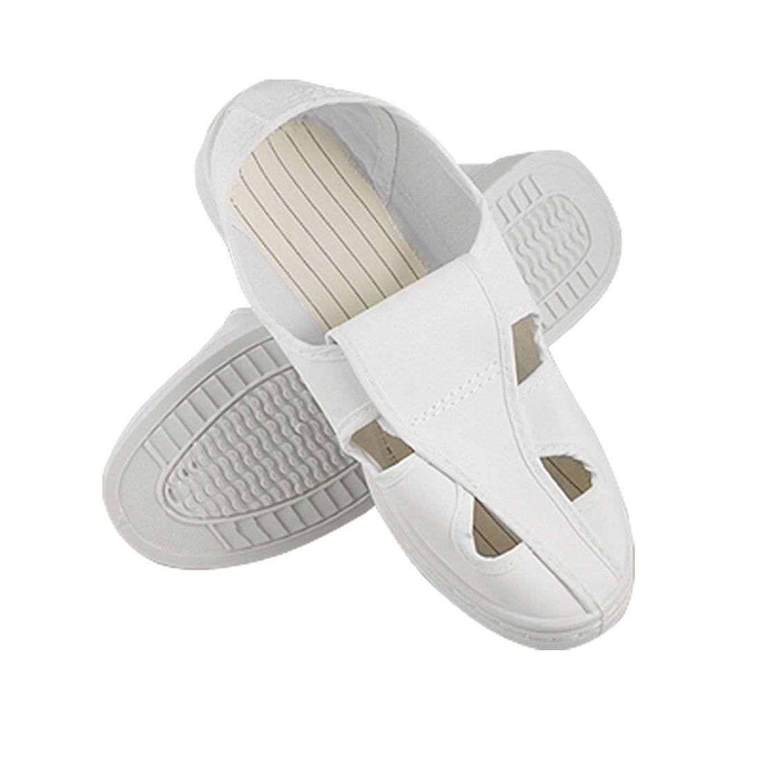 Women White Antislip Outsole Anti-static ESD Cleanroom Shoes US 7