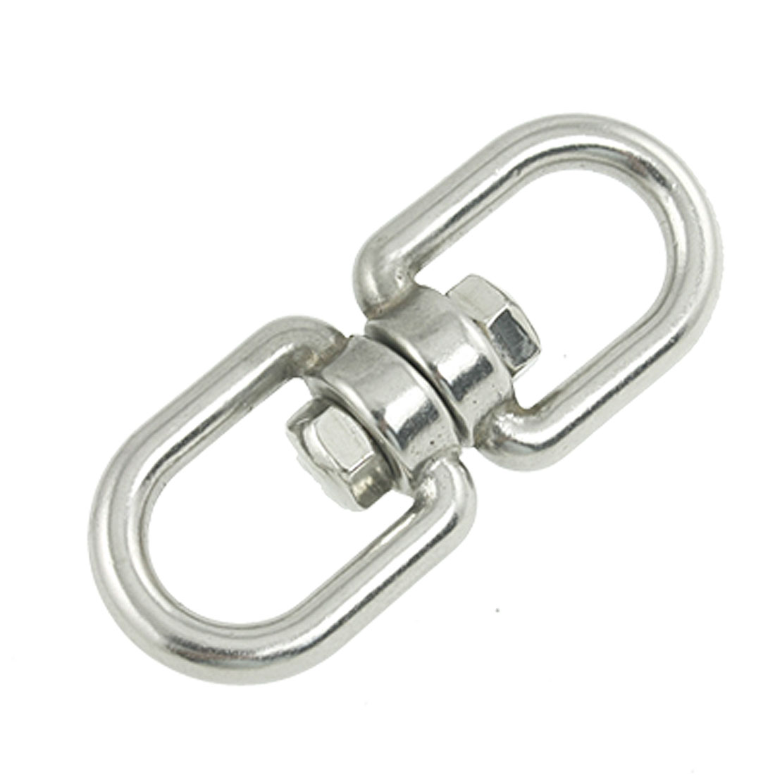 "Marine Mooring 1/4"" Eye to Eye Swivel 304 Stainless Steel Silver Tone"