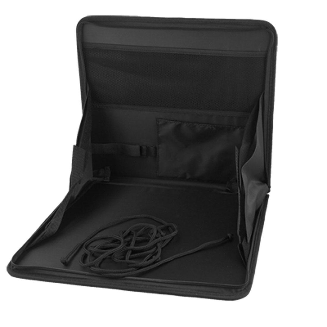 Auto Car Portable Zipper Closure Seat Holder Bag Black