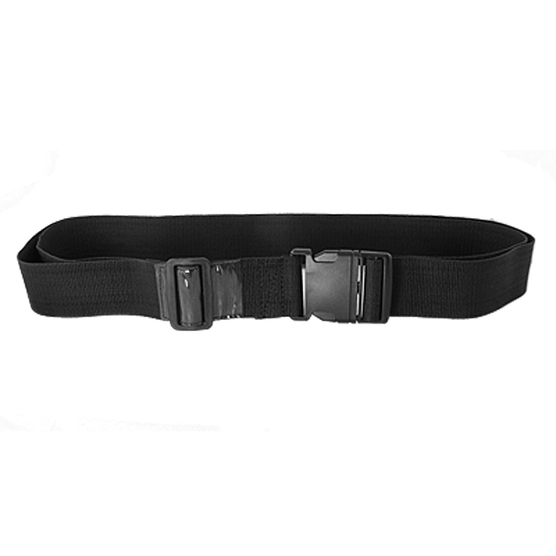 Black Side Release Buckle Adjustable Nylon Suitcase Luggage Strap Belt