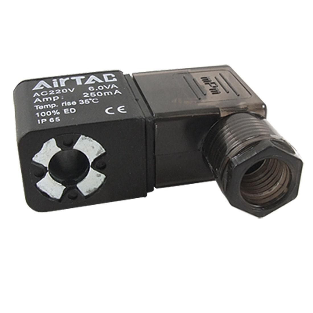 AC 220V Pneumatic Control Air Solenoid Valve Coil Black