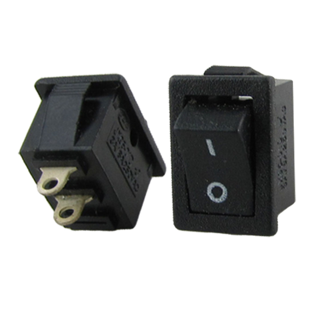 2 Pcs Black AC 250V 3A 2 Pin SPST On/Off Snap in Boat Rocker Switch 12.7x8.9mm