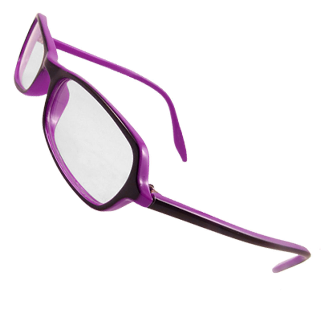 Woman Full Frame Two Tone Purple Plano Glasses Spectacles