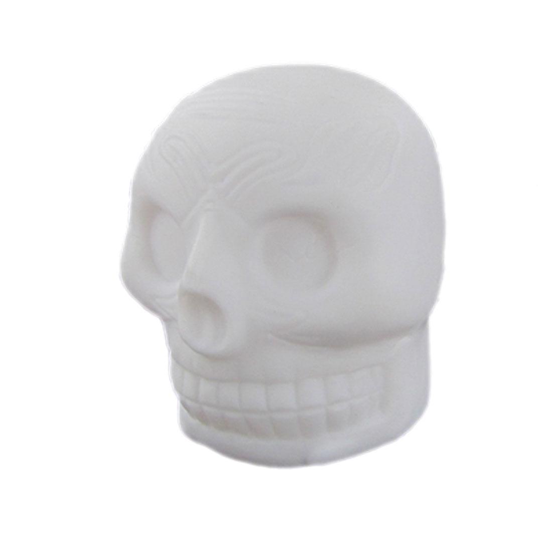 White Skull Head Shape 7 Colors LED Light Lamp Decor