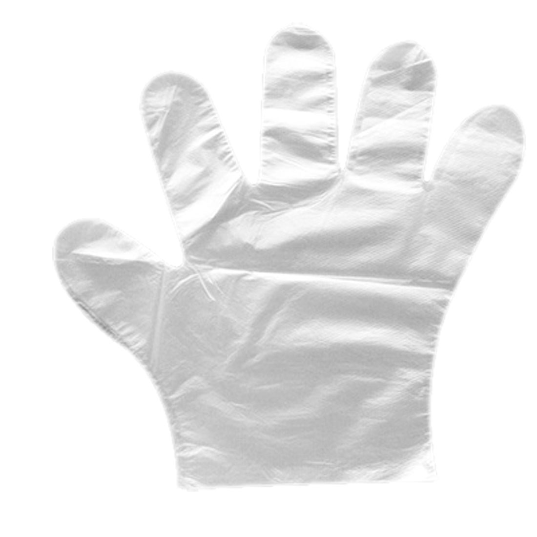 Kitchen Clear White Plastic Disposable Gloves 25 Pairs