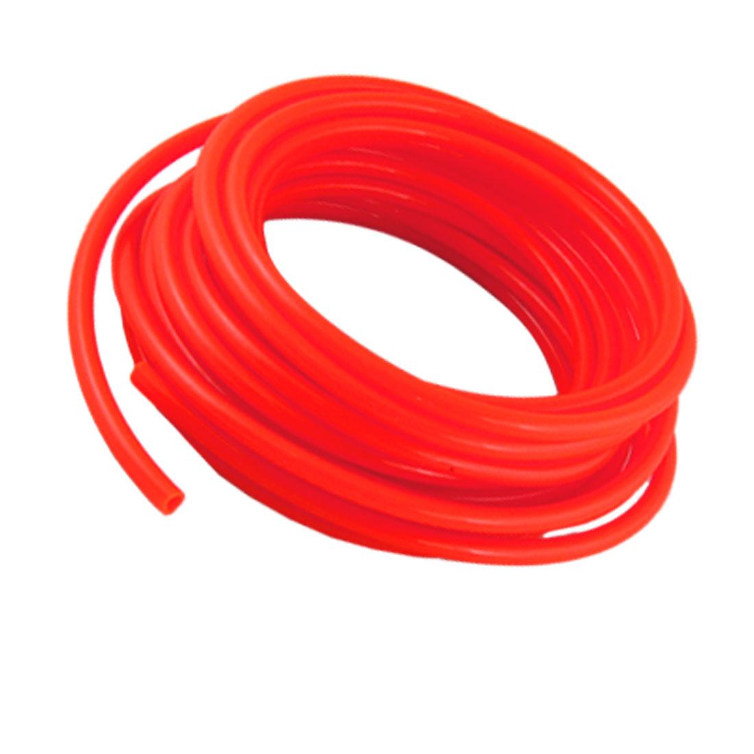 Orange Red 10M 32.8Ft 8mm OD 5mm ID Polyurethane PU Air Tube Hose