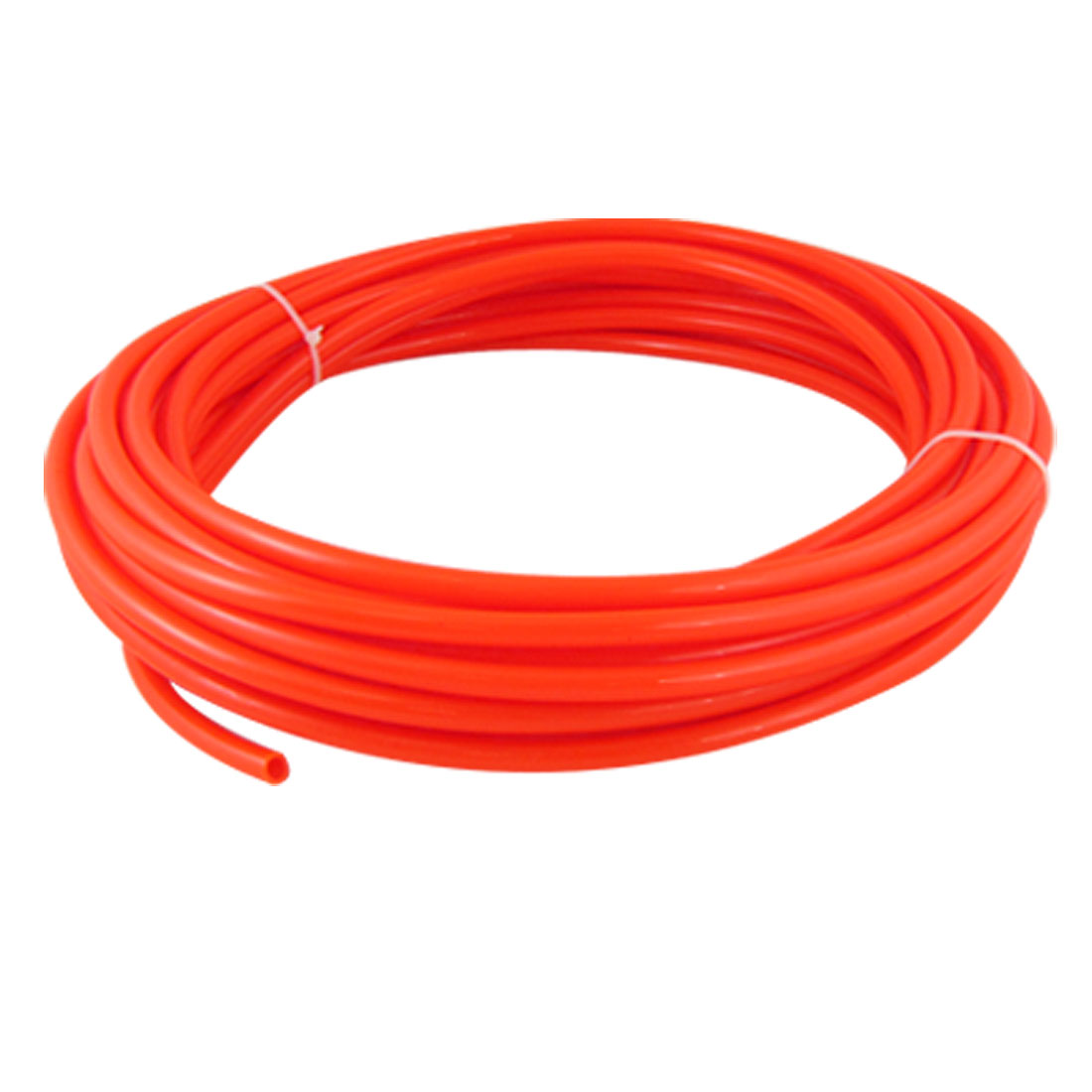 Orange Red 15M 49.2Ft 8mm OD 5mm ID Pneumatic PU Air Tube Hose